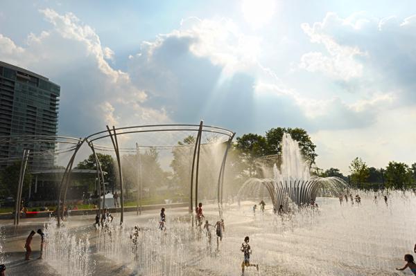 Scioto Mile Fountain