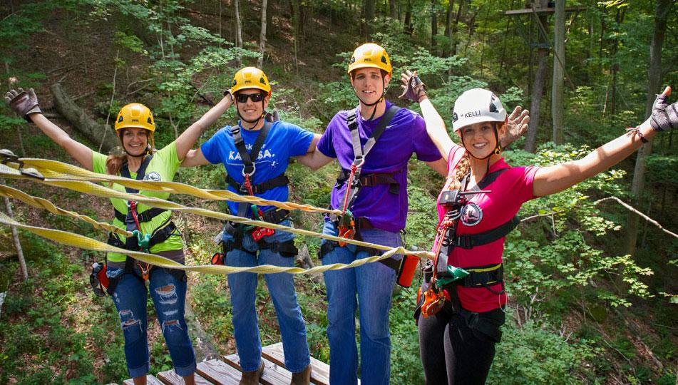 Shawnee Bluffs Canopy Tour. Photo: Ed Baumgarten