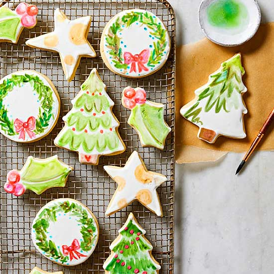 Old-Fashioned Sugar Cookies with Watercolor Icing