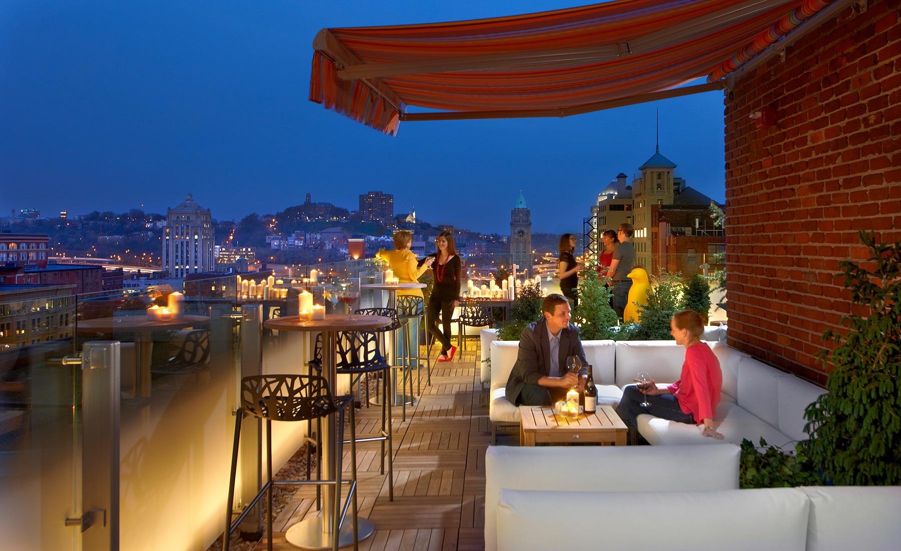 Rooftop bar, 21c Museum Hotel