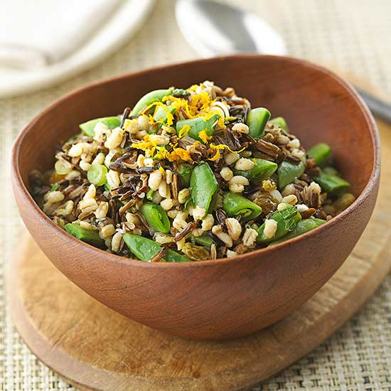 Minted Wild Rice and Barley Salad