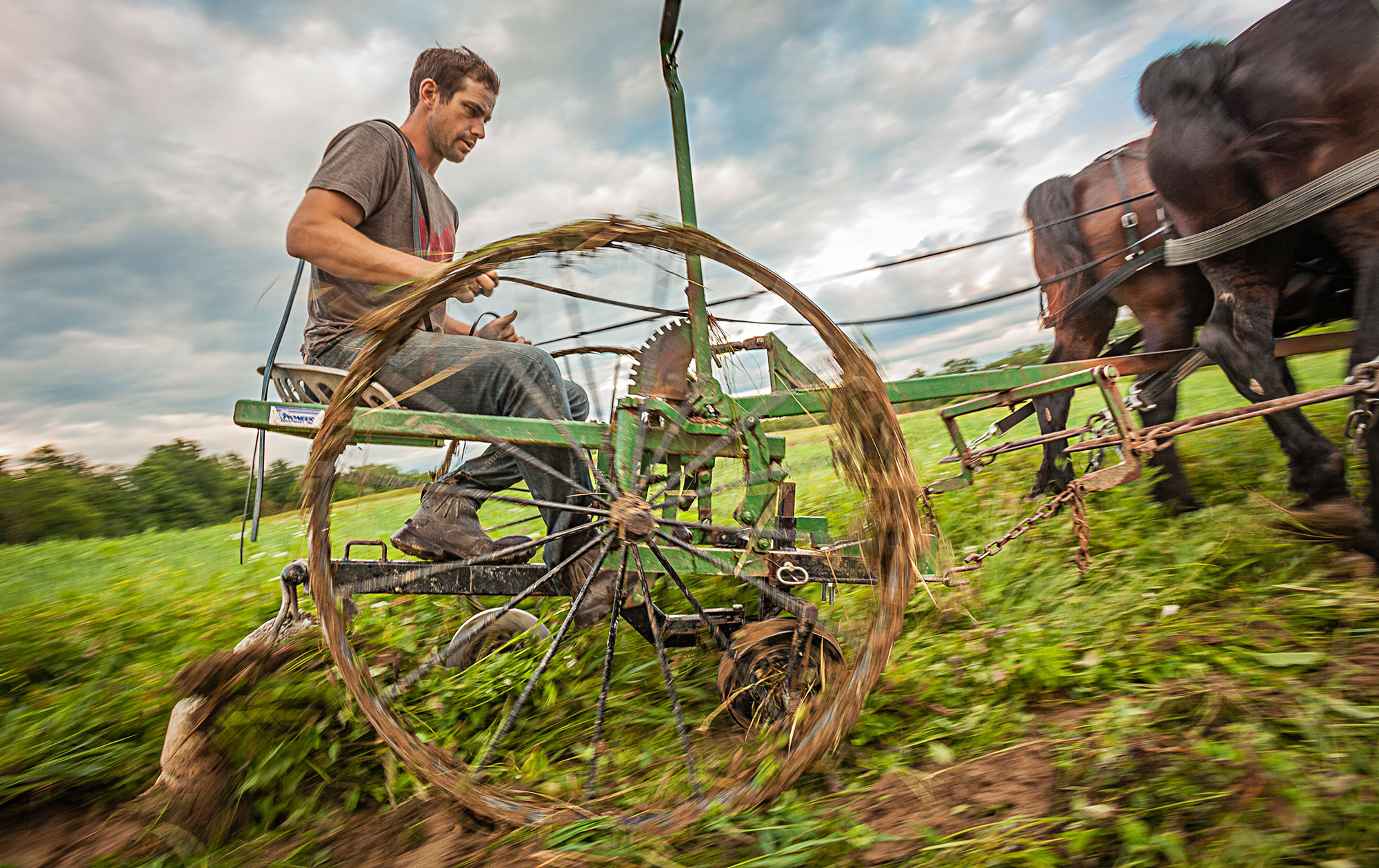 Mark Trapp uses no gas-powered equipment