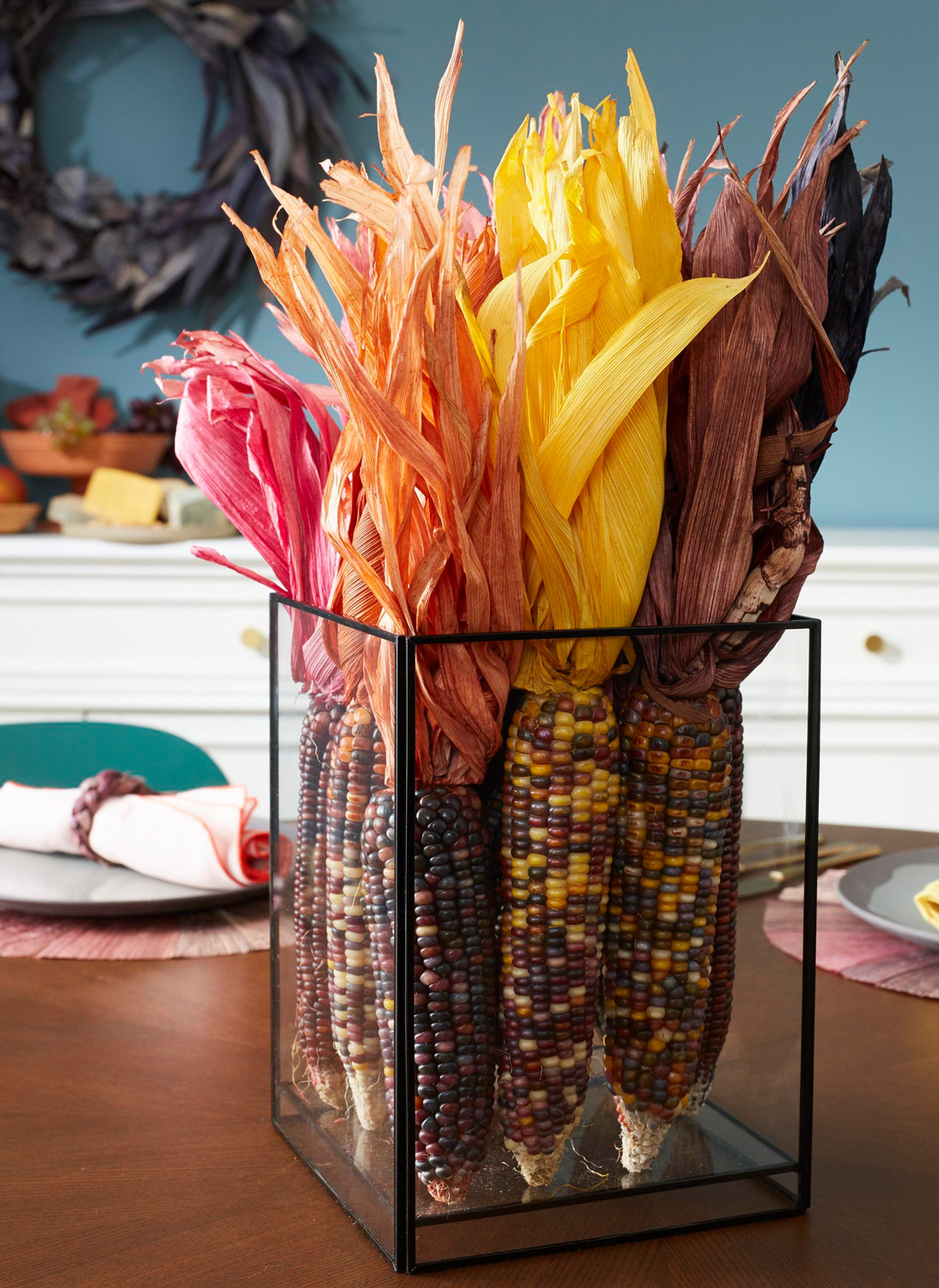 Corn husk bouquet