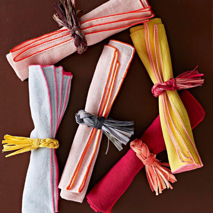 Corn husk napkin rings