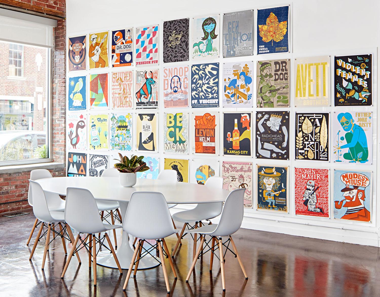 Studio gallery wall