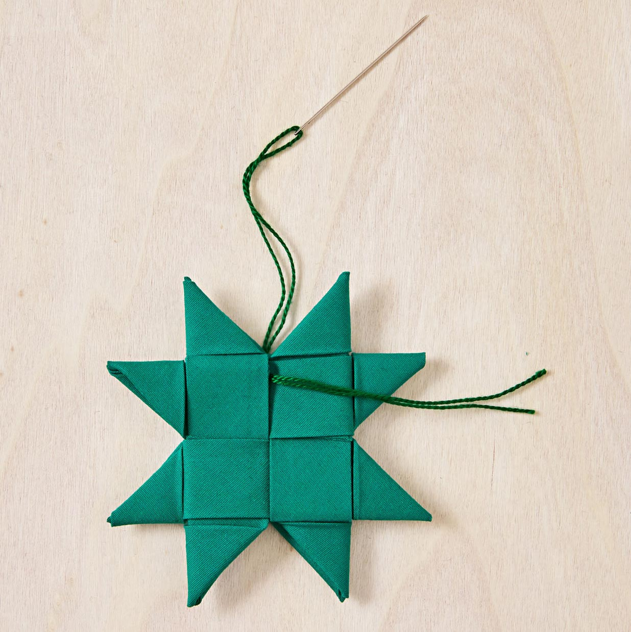 How to make woven stars, step 6