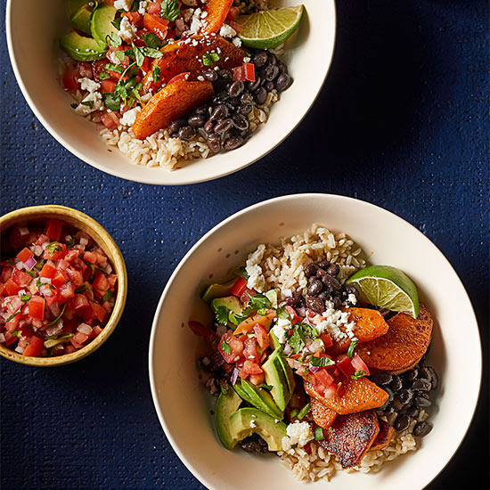 Roasted Butternut Burrito Bowls