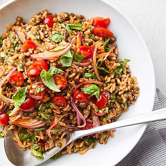 Lentil and Rice Summer Salad