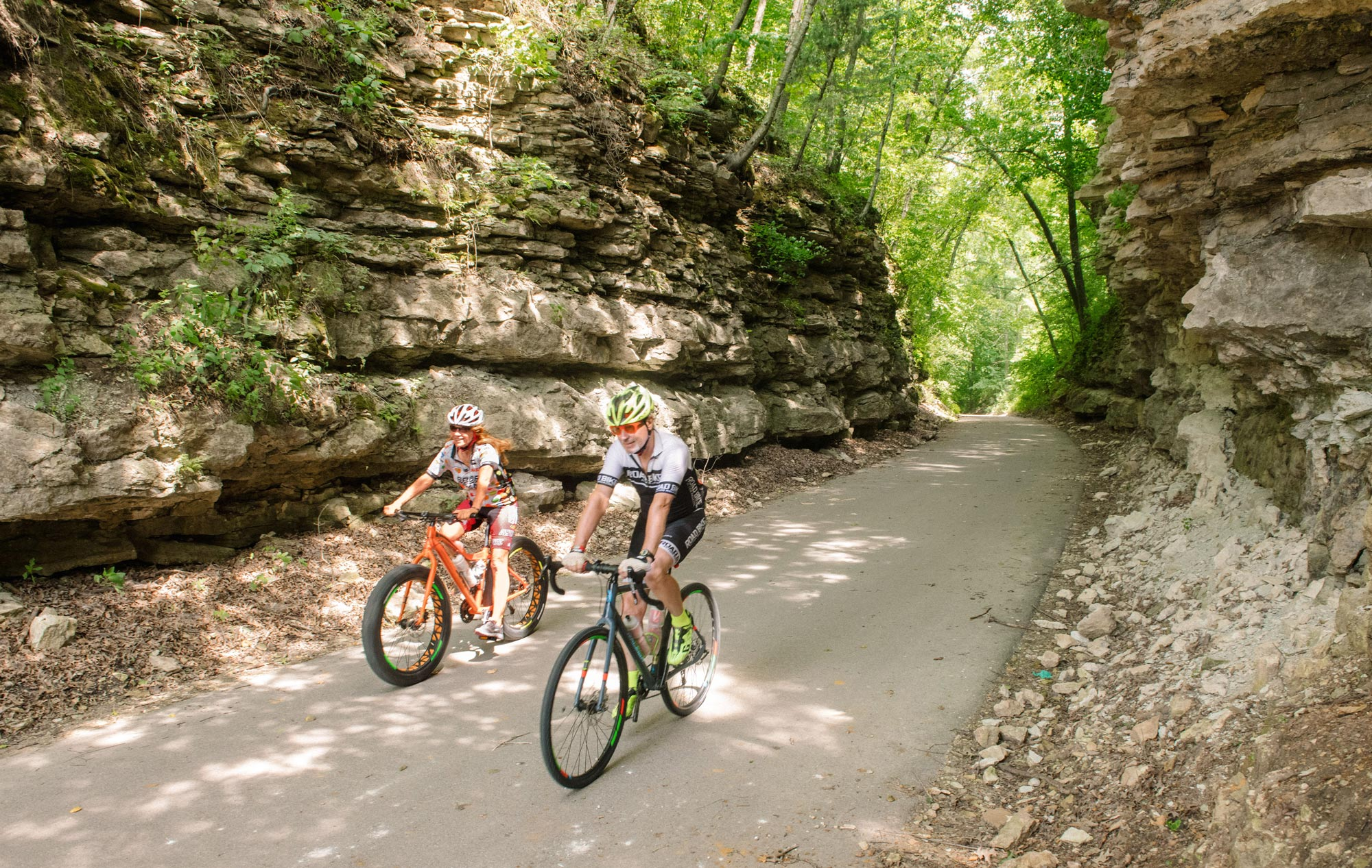 Bluffs along the Root River Trail
