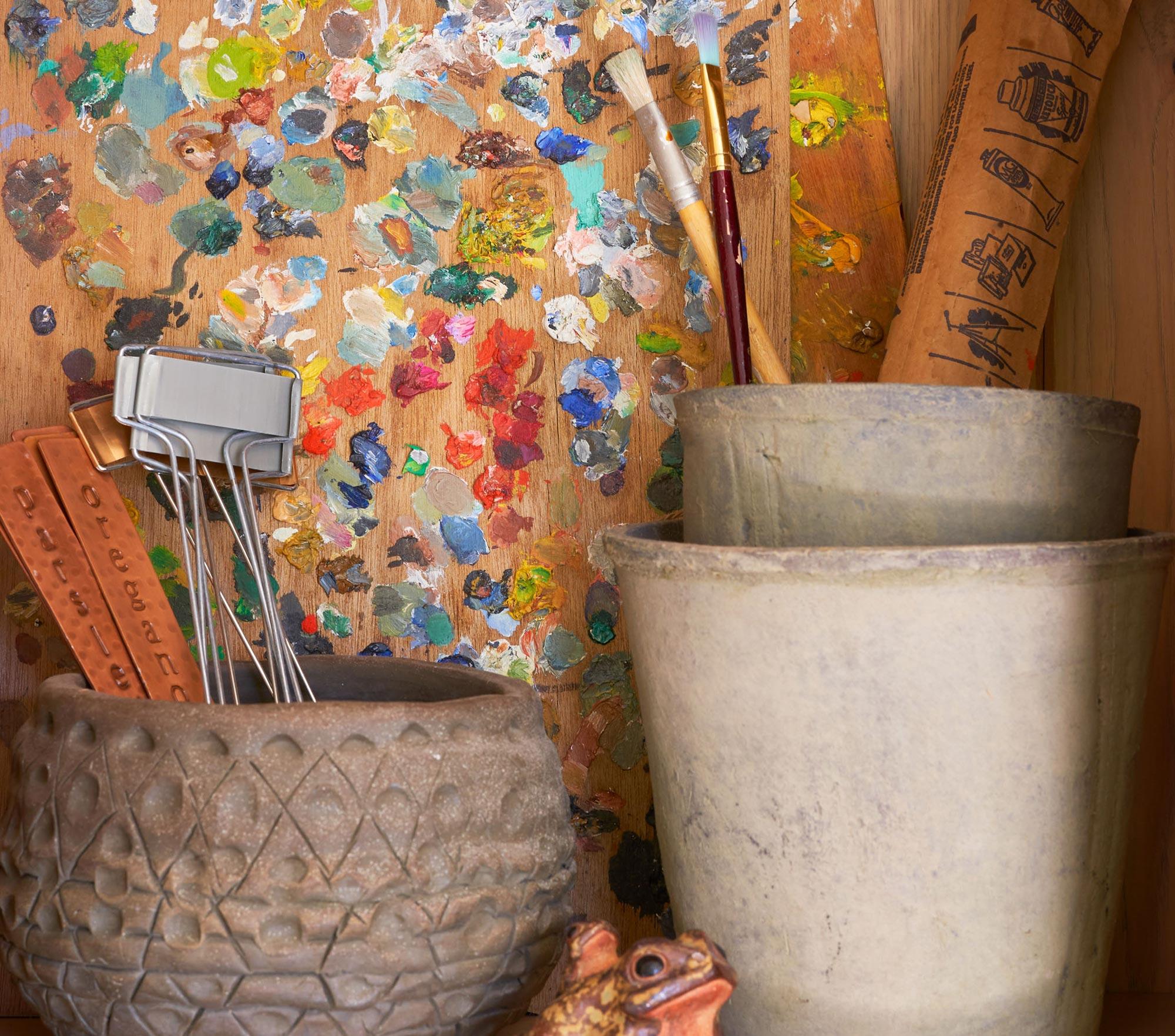 Potting shed art