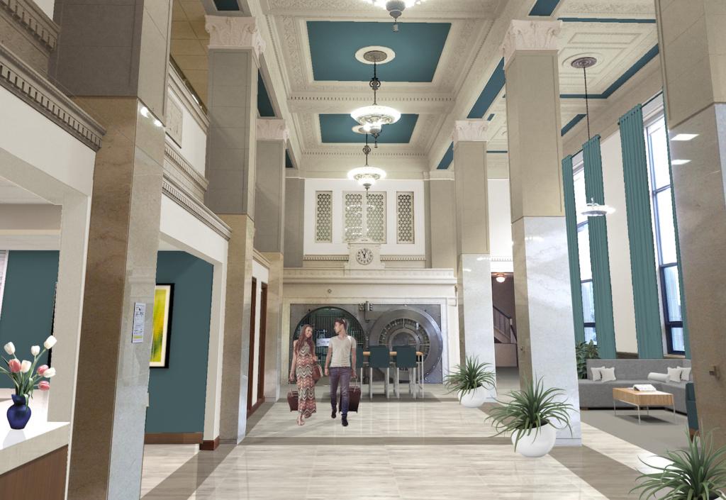 Rendering of Hotel on Phillips interior