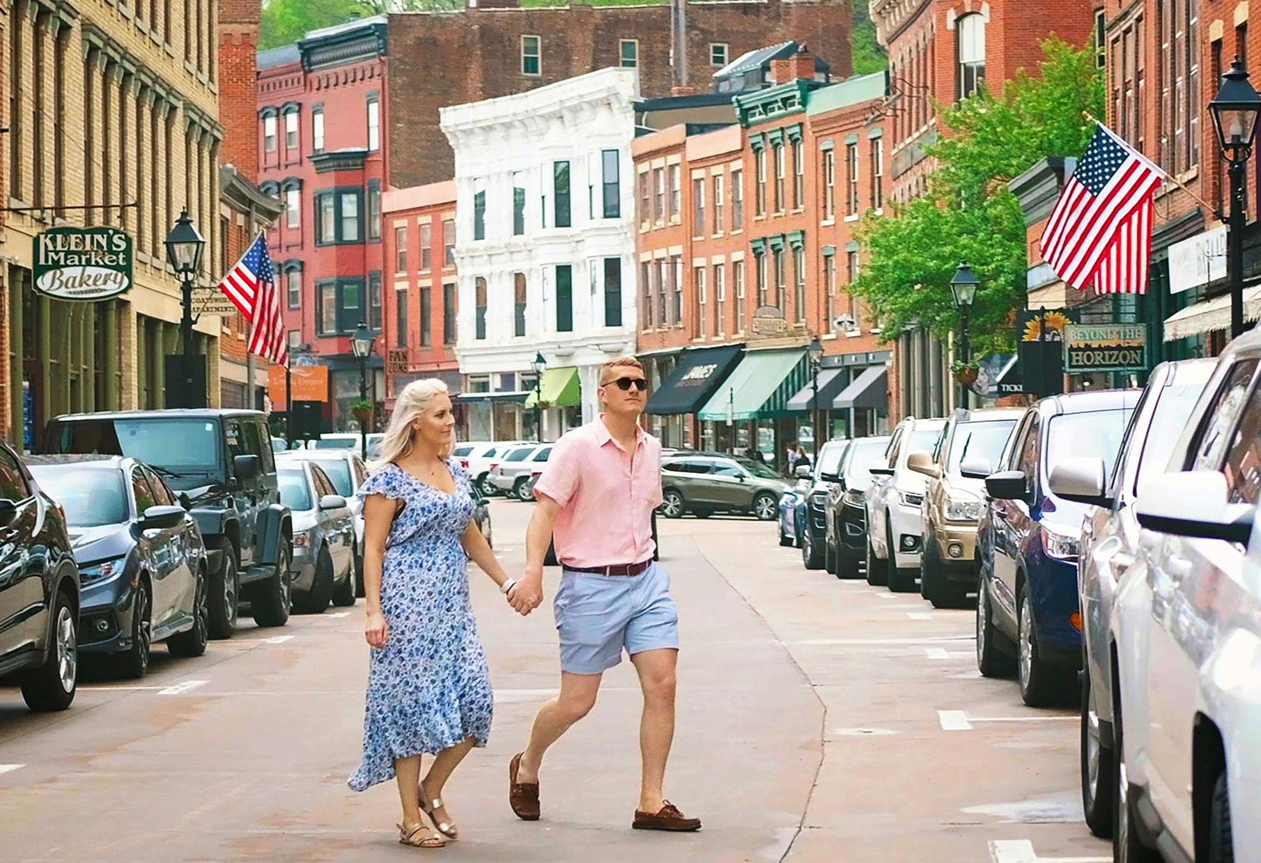 Main Street in Galena, Illinois