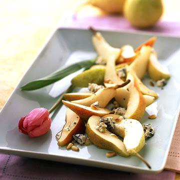 White-on-White Pears with Gorgonzola