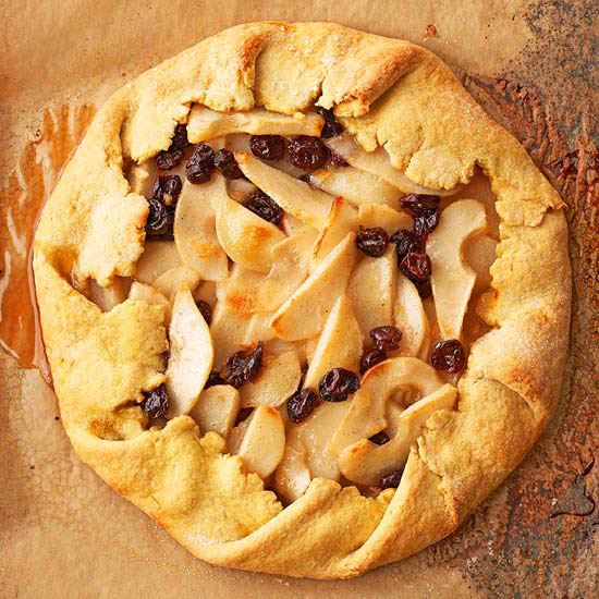 Rustic Pear Tart with Saffron Pastry