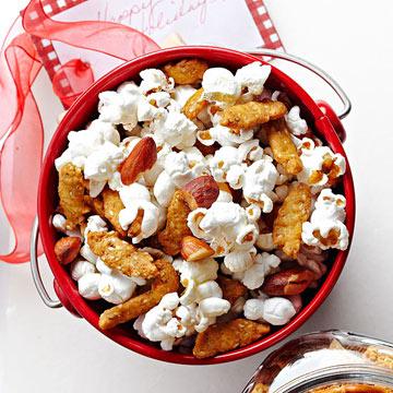 Wasabi Almonds and Popcorn