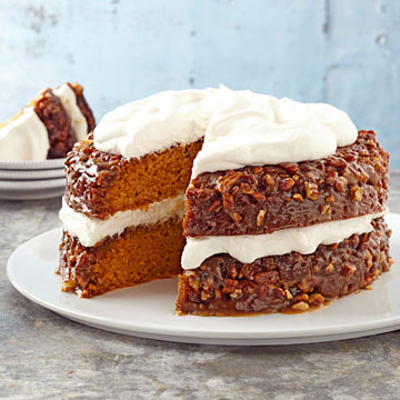 Pumpkin-Praline Layer Cake