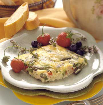 Turkey-Asparagus Brunch Bake