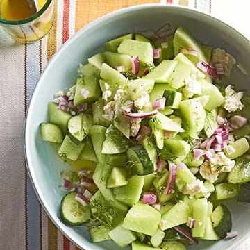 Cucumber-Honeydew Salad with Feta