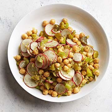 Dilly Chickpea and Radish Salad
