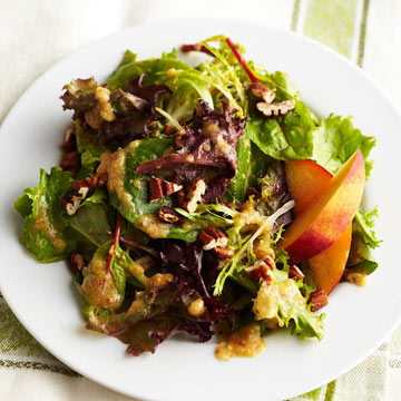 Peach Pecan Vinaigrette with Spring Green Salad