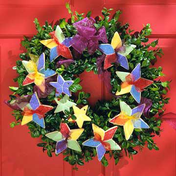 Star Cookie Wreath
