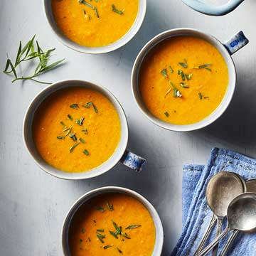 Carrot Soup with Tarragon and Cream