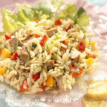 Duck-and-Saffron Orzo Salad