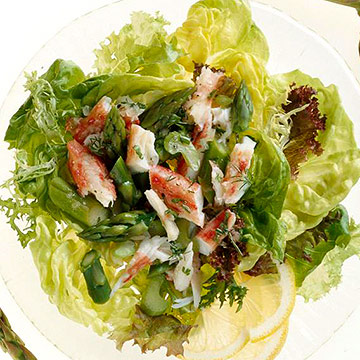 Tangy Asparagus-Crabmeat Salad
