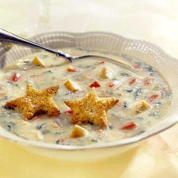 Christmas Soup.Christmas Confetti Soup