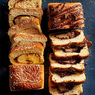 Chocolate Brioche Swirl Loaf