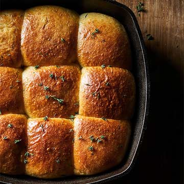 Herbed Brioche Dinner Rolls