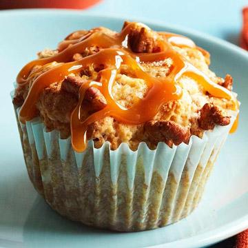 Caramel-Banana Muffins