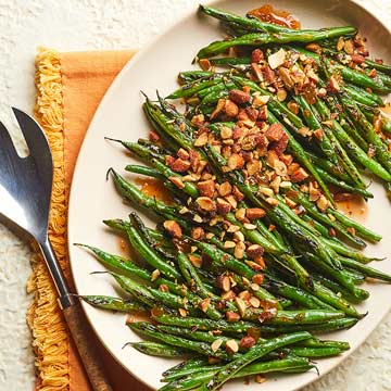 Sweet and Smoky Skillet-Blistered Green Beans