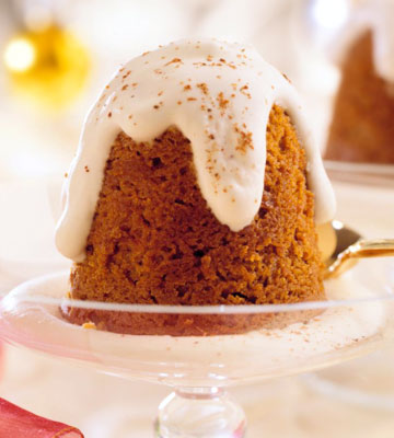 Gingerbread Pudding with Brandy Cream Sauce