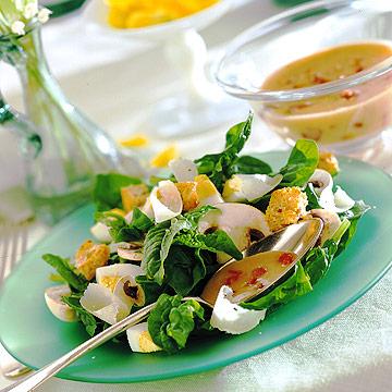 Mushroom-Spinach Salad