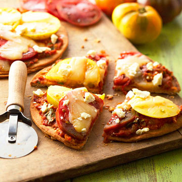 Roasted Summer Vegetable Pizzettes