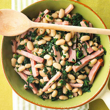 Greens, Beans and Ham
