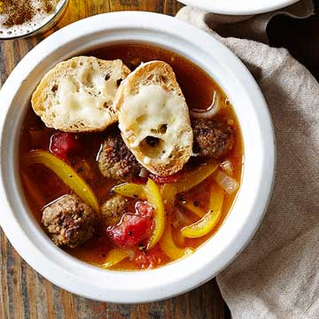 Meatball Cheesesteak Soup