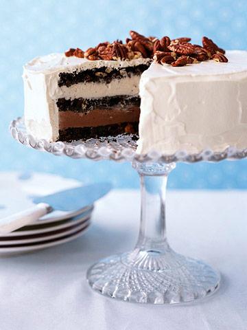 Triple Chocolate Ice Cream Cake