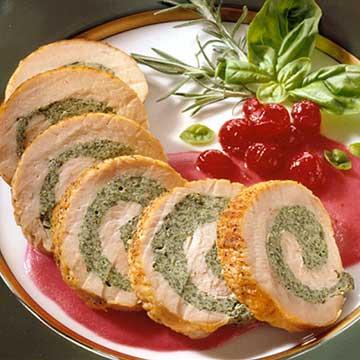 Spinach-Stuffed Turkey Tenderloin