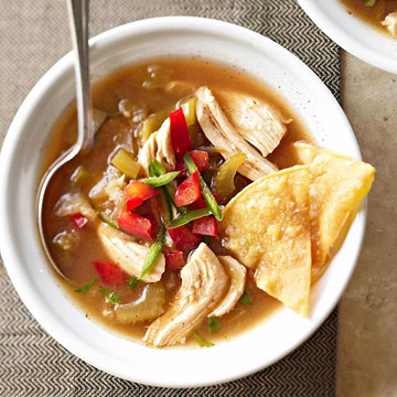 Tomatillo Chicken Soup