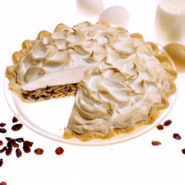 Raisin Cream Pie With Cloud Nine Meringue