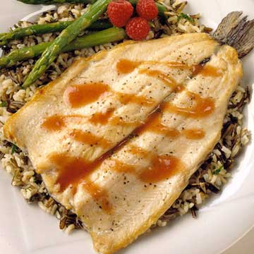 Fruit-Sauced Rainbow Trout