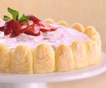 Strawberry Chiffon Dessert