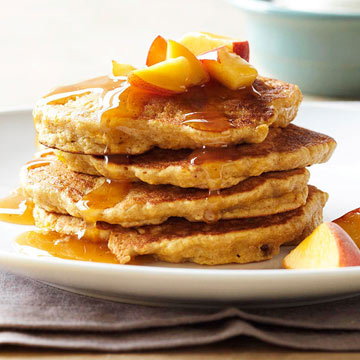 Peach Pancakes and Chai Syrup