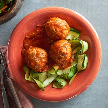 Turkey Meatballs with Fiery Tunisian Sauce