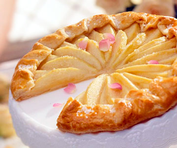 Courtly Country Pear Tart