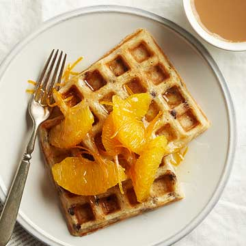 Chocolate-Orange Yeasted Waffles