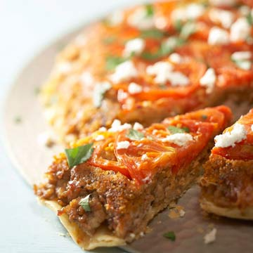 Roasted Tomato Chicken Crostata