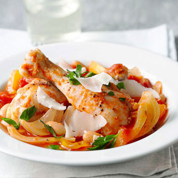 Italian Braised Chicken with Fennel and Cannellini